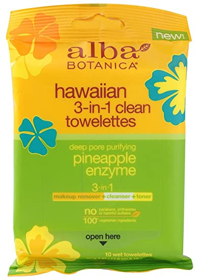 Alba Botanica Pineapple Enzyme Hawaiian 3 in 1 Clean Towelette, 10 CT (Pack of 4) Hollister 11403 New Image Ceraplus Convex Cut to Fit Skin Barrier 2 1/4 Flange - Box of 5