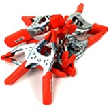 """6"""" Inches Clamp Heavy Duty Metal Spring Clamps – Orange PVC Coated (Orange 6pc)"""