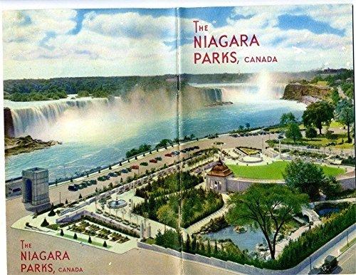 The Niagara Parks Canada Booklet and 9 Niagara Falls Unused Linen Postcards