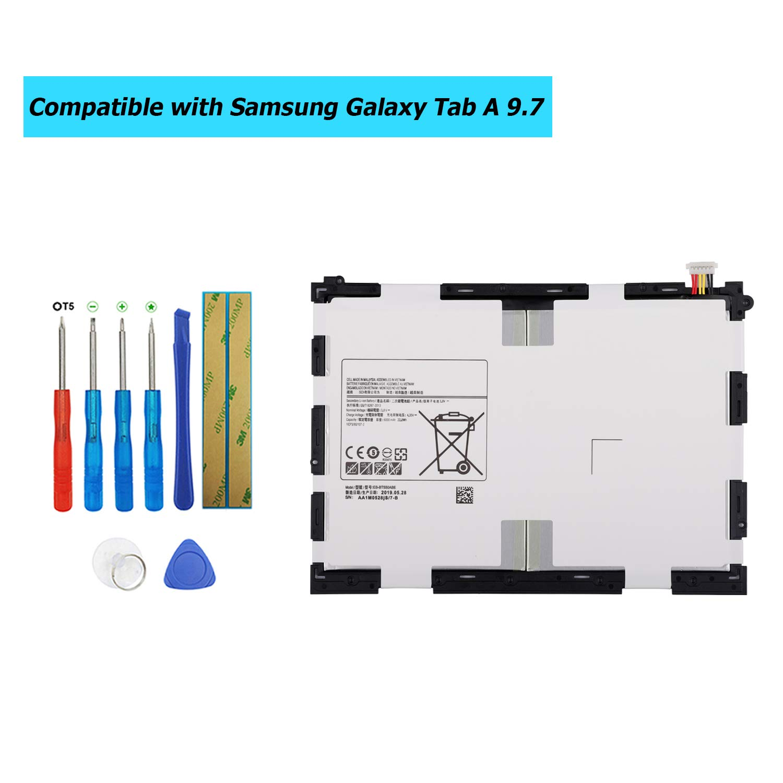 Bateria Tablet EB-BT550ABE para Samsung Tab A 9.7 Tab A Plus