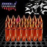 60mm rim - Orange 20 PCS M12x1.5 Lug Nuts Spiked 60mm Extended Tuner Aluminum Wheels Rims Cap WN03