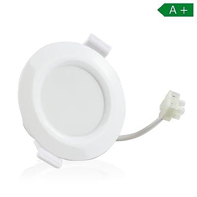 Spot LED encastrable pour salle de bain, 6 cm, profondeur de perçage ...