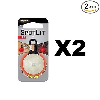 Amazon.com: Nite Ize spotlit LED mosquetón Luz Color Rojo W ...