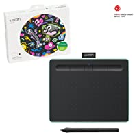 Wacom CTL4100WLE0 Wireless Drawing Tablet with 2 Free Creative Software Downloads, Corel Painter Essentials, Small, Pistachio