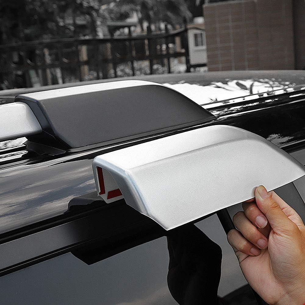 Black Exterior Accessories Roof Rails Luggage Carrier Rack End Cap Cover Trim