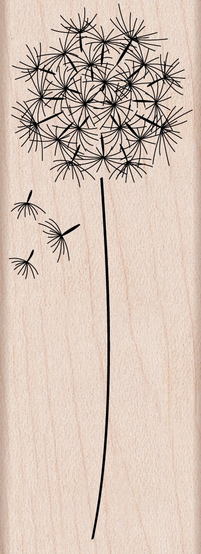 Hero Arts G4917 Woodblock Stamp, Dandelion