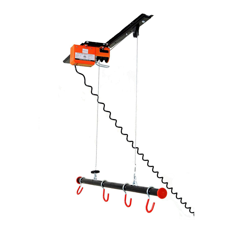 Garage Gator GG4125 125Lb Motorized Overhead Bike Lift System Residential Motorized Lift System, Large, Black/Orange by Garage Gator