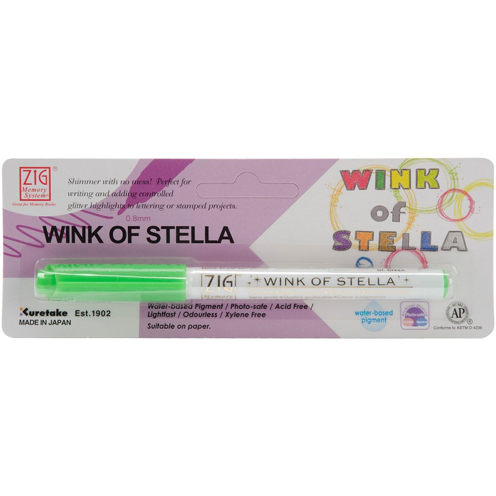 Zig MS401P-999 Memory System Wink of Stella Giltter Marker, Carded, Clear Notions - In Network