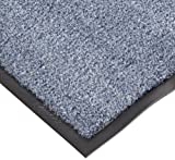 NoTrax T37 Fiber Atlantic Olefin Entrance Carpet Mat, for Wet and Dry Areas, 2' Width x 3' Length x 3/8'' Thickness, Slate Blue