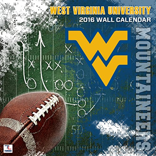 "Turner West Virginia Mountaineers 2016 Team Wall Calendar, Sept. 2015-December 2016, 12 x 12"" (8011829)"