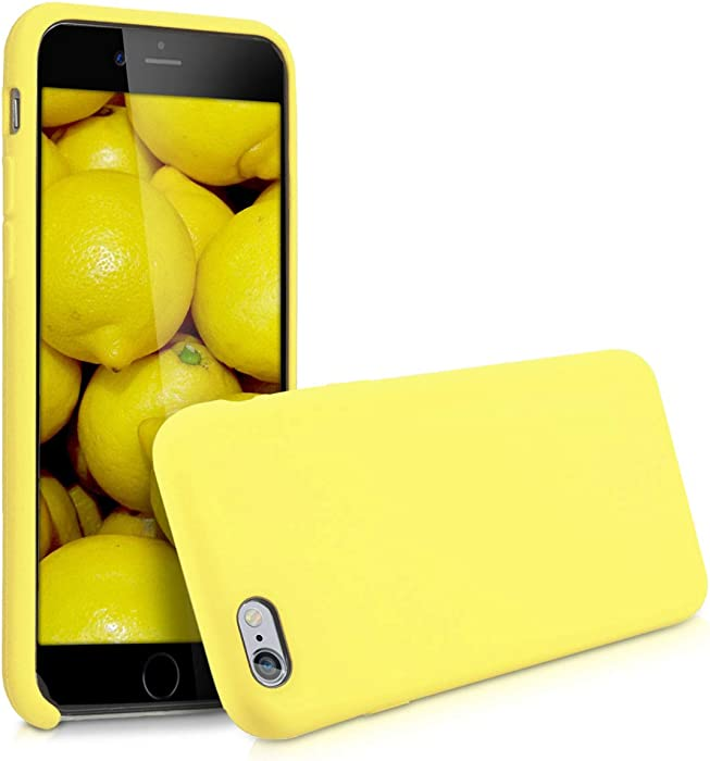 kwmobile TPU Silicone Case Compatible with Apple iPhone 6 / 6S - Soft Flexible Rubber Protective Cover - Pastel Yellow