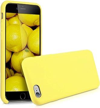 kwmobile Coque pour Apple iPhone 6 / 6S - Coque Étui Silicone - Housse de téléphone Jaune Pastel