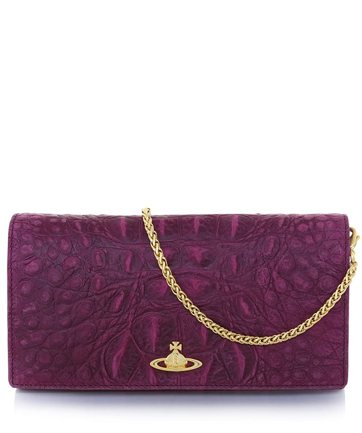 Vivienne Westwood Accessories Women's Amazonia Leather Clutch Bag Purple