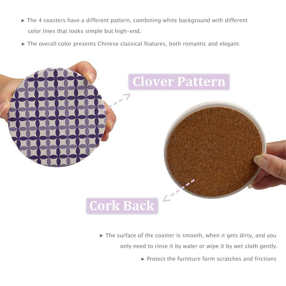 Amazon.com: Posavasos de cerámica absorbente para bebidas ...