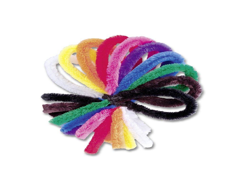 Sale - 20mm Assorted Chunky & Extra Long 50cm Pipecleaners for Crafts - 50pk
