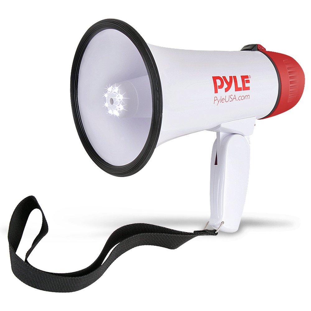 Professionelle Megafon / mit Sirene und LED-Leuchten PYLE AUDIO INC PMP37LED