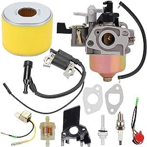Milttor GX 120 Carburetor Air Filter Ignition Coil Fit Honda GX120 Carburetor GX110 WDP20X WDP20XT WDP30X WDP30XT WDP30XK2 WDP30XK1 Water Pump 16100-ZH7-W51