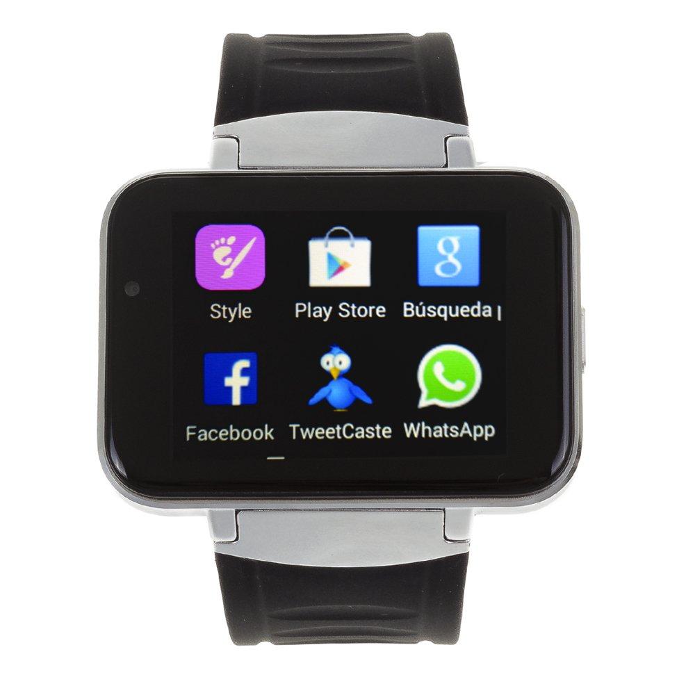 DAM - SMARTWATCH Phone DM86 con Android 4,4 Plateado, Alarma, Reproductor de Video, Calendario, calculadora, grabación de Voz, Email, escarga a través ...