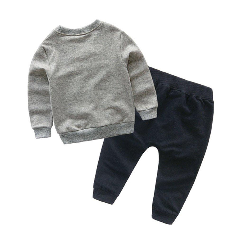 2fb49817a Camisas niña niño Bebé Chicas Chicos Sudaderas Tops de Dibujos Animados +  Conjunto de Ropa de Trajes de Pantalones 2-6 Años ❤ Modaworld  Amazon.es   Ropa ...