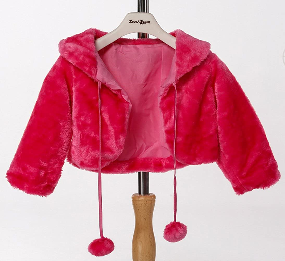 SK Studio Girl Faux Fur Shoulder Cape Wrap Jacket