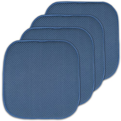- Sweet Home Collection 4 Pack Memory Foam Honeycomb Nonslip Back 16