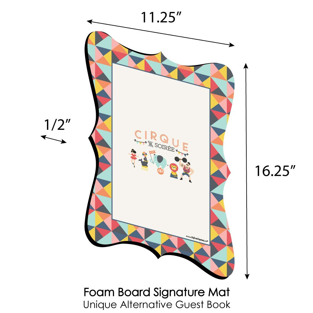 Unique Alternative Guest Book Cirque du Soiree Big Dot of Happiness Carnival Baby Shower or Birthday Party Signature Mat