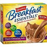 Carnation Breakfast Essentials, Classic Chocolate Malt Powder, 1.26 oz, 10-Count Envelopes (Pack of 6)