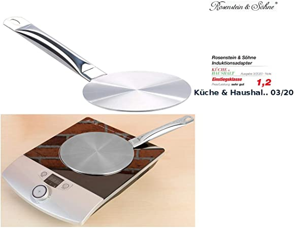 Rosenstein & Söhne – Cocina de inducción de adaptador: Universal de placa adaptadora para inducción, diámetro 14 cm (placa adaptadora para cocina de inducción): Amazon.es: Hogar