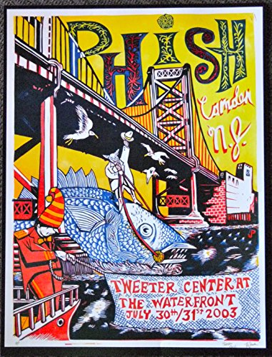 Phish - Live at Tweeter Center/Camden 2003 - Concert Gig Mini Poster - Entertainment Center Usually Ships