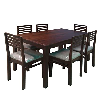 Evok Eastern Solidwood Six Seater Dining Table Set