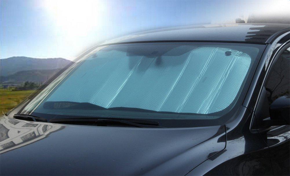 alluminio sottile su due lati/per bloccare i raggi ultravioletti Parasole per auto colore: argento Chytaii