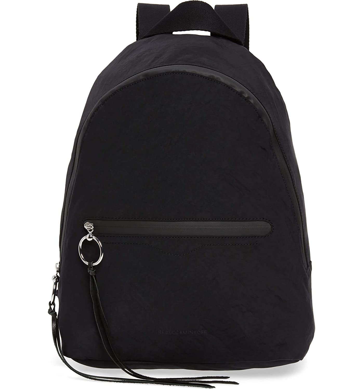 (レベッカミンコフ) REBECCA MINKOFF ウィメンズドームナイロンバックパック Women`s Backpack + 2色 (並行輸入品) B07S8K1HHG ブラック One Size