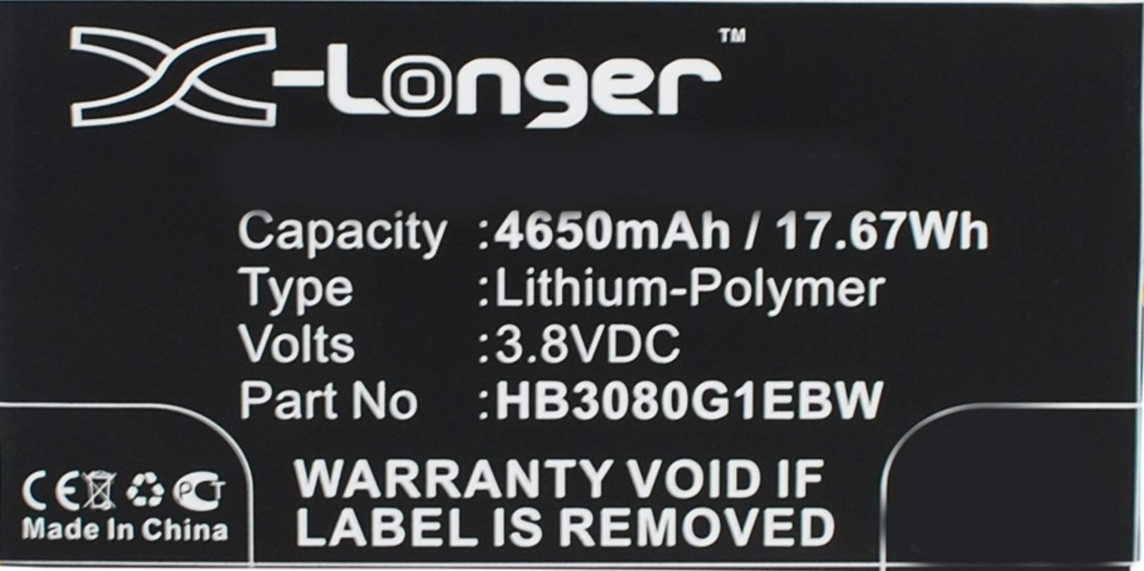 Synergy Digital Battery Compatible with Huawei S8-306L Tablet Battery (Li-Pol, 3.8V, 4650 mAh) - Repl. Huawei HB3080G1EBC Battery