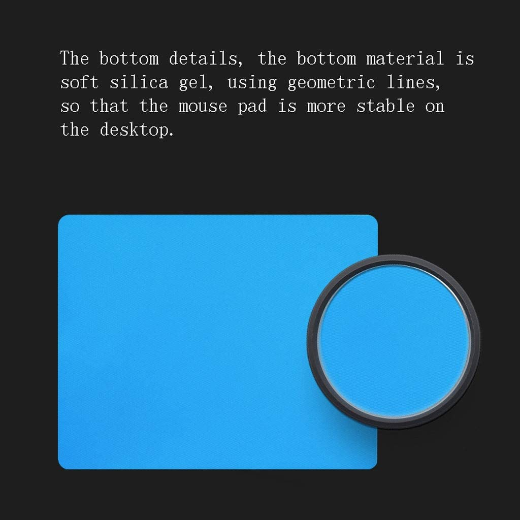 Color : Blue, Size : 23.619.6cm DNZMJRD Matte Mouse Pad Waterproof Anti-Sweat Resin Surface Mouse Pad Comfortable Home Office Supplies Game Student Table Mat