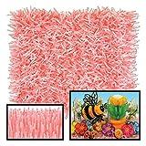 Club Pack of 24 Novelty Pink Tissue Grass Mats 30