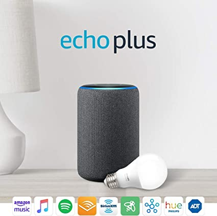 2nd Gen Charcoal All-new Echo Plus Bundle with free Philips Hue Bulb