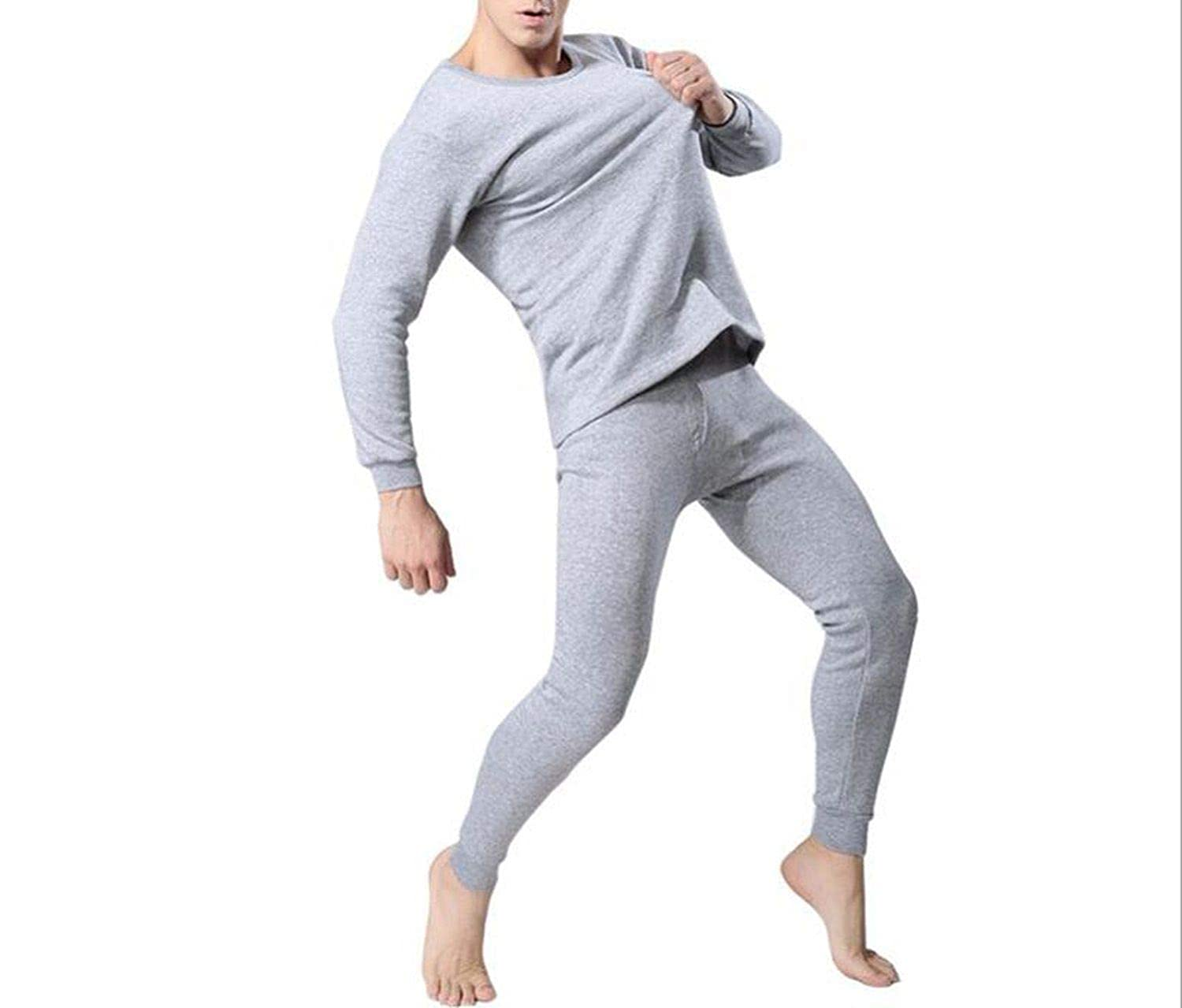 Men's Thermal Underwear Sets Winter Warm Men's Thick Thermal Underwear Long Johns The small cat