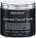 Bleaching Skin Recipes - The BEST Charcoal Scrub 10 oz.- Best for Facial Scrub, Pore Minimizer & Reduces Wrinkles, Acne Scars, Blackheads & Anti Cellulite Treatment - Great as Body Scrub, Body & Face Cleanser