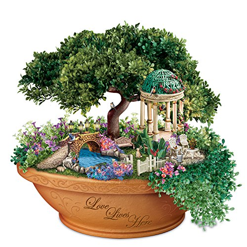 Thomas Kinkade Light Up Floral Garden Table Centerpiece by The Bradford (Thomas Kinkade Garden)