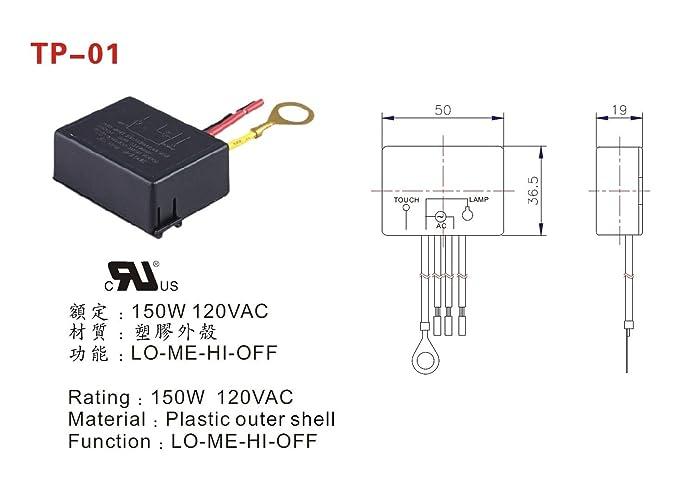 zing ear tp 01 zh touch lamp light dimmer switch control sensor rh amazon com