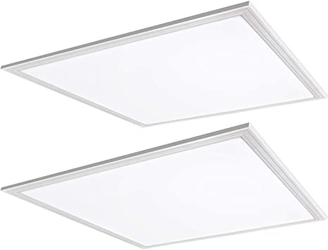 2 Pieces UL 2X2 40W LED Panel 4000K Square Light Dimmable Ultra Bright