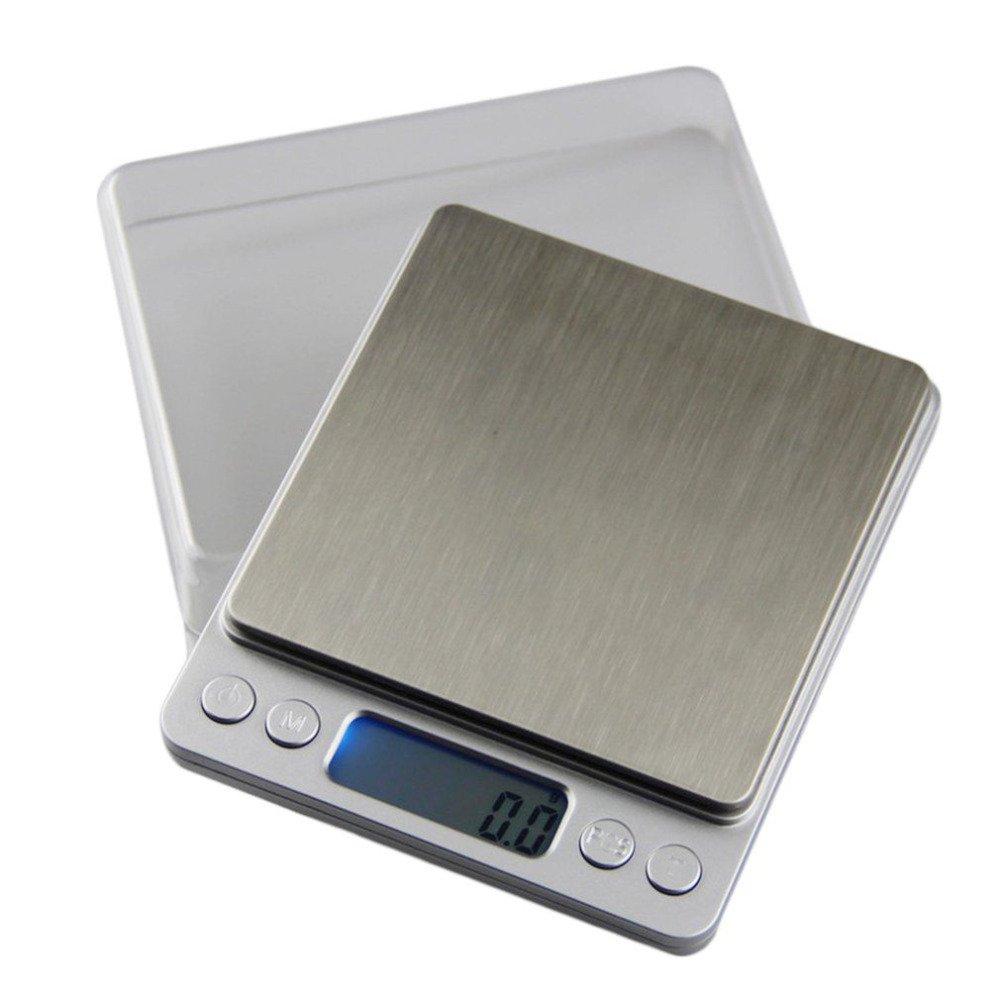 Dongjinrui Jewelry Scale Stainless Steel Kitchen Scale High Precision Electronic Jewelry Balance Grams Weighing Tool 6 Unit 500/200/3000/2000/1000G 0.01G,1000G