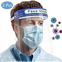 Pantalla Protectora Facial, Viseras Protectoras Cara, Ajustable, Transparente