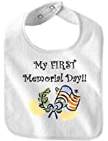 MY FIRST MEMORIAL DAY - BigBoyMusic Baby Designs - Bibs - White Bib