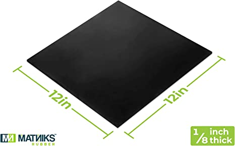 Amazon Com Nitrile Rubber Sheet Nbr Heavy Duty Oil Resistant Hardness Shore A60 Black Smooth 12x12 Inch 1 8 W 5 For Plumbing Gaskets Diy Material Supports Leveling Sealing Protection Abrasion Home Improvement
