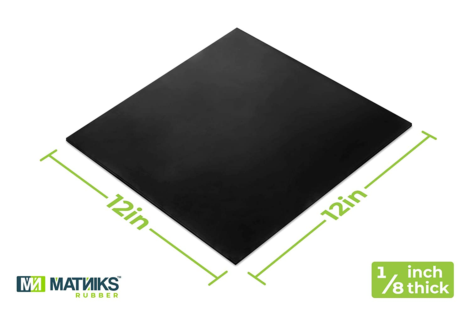+//- 5/% Rubber Sheet for Plumbing High Grade 12x12-Inch by 1//16 Bumpers Neoprene Off-White Leveling Hardness A60 Supports Heavy Duty Abrasion Protection Gaskets DIY Material Sealing