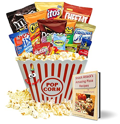 Movie Night Gift Bundle, Popcorn, Candy, Cookies, Date ...