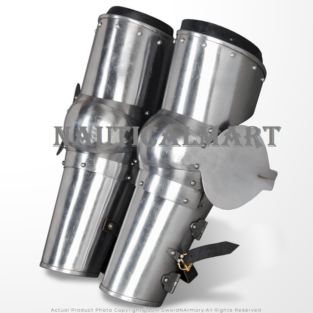 Medieval Arms Plate Armor Leaf Elbow Protector Type B 18 Gauge Steel SCA WMA By Nauticalmart