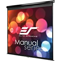 Elite Screens Manual Series, 71-INCH 1:1, Pull Down Manual Projector Screen with AUTO LOCK, Movie Home Theater 8K / 4K Ultra HD 3D Ready, 2-YEAR WARRANTY, M71UWS1