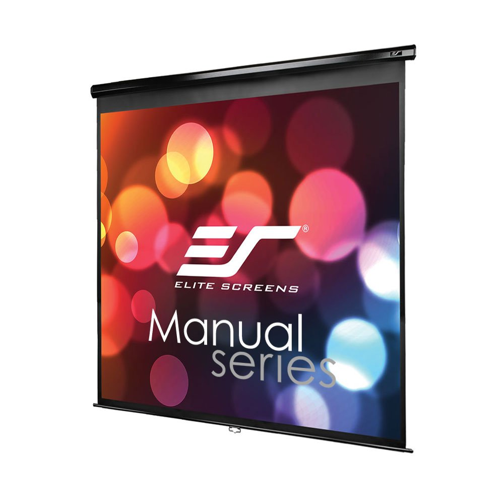 Elite Screens Manual M100UWH Pull Down Projection Manual  Projector Screen with Auto Lock 100-inch 16:9